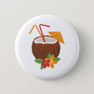 Badge Rond 5 Cm Noix de coco de Pina Colada
