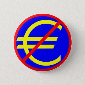 Badge Rond 5 Cm Non à l'euro