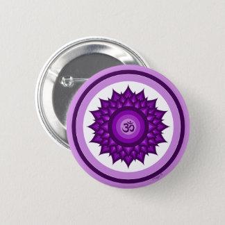 Badge Rond 5 Cm Nouveau symbole d'âge de couronne de Chakra de