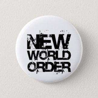 Badge Rond 5 Cm Nouvel ordre mondial