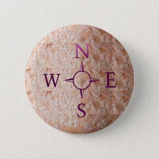 Badge Rond 5 Cm NOUVELLES : Sud est-ouest de nord de boussole