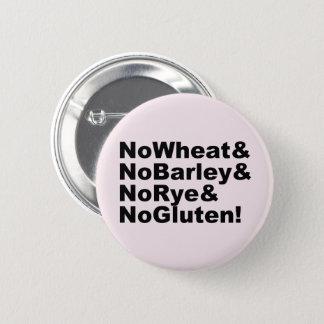 Badge Rond 5 Cm NoWheat&NoBarley&NoRye&NoGluten ! (noir)