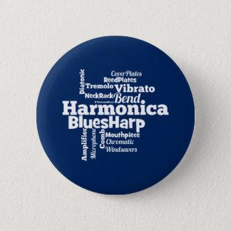 Badge Rond 5 Cm Nuage de mot d'harmonica