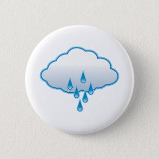 Badge Rond 5 Cm Nuage de pluie