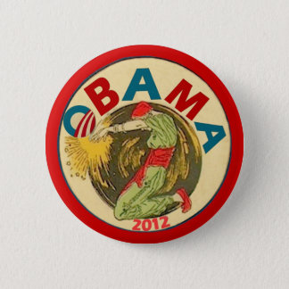 Badge Rond 5 Cm Obama 2012