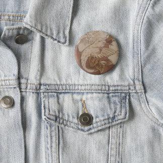 Badge Rond 5 Cm Oiseau de ronflement de ketmie