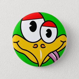 Badge Rond 5 Cm Oiseau drôle de bande dessinée