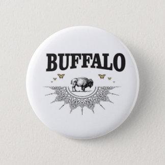 Badge Rond 5 Cm ombre de taureau de bison