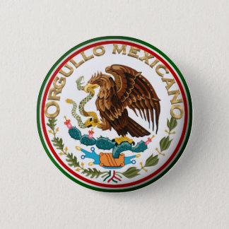 Badge Rond 5 Cm Orgullo Mexicano (Eagle de drapeau mexicain)
