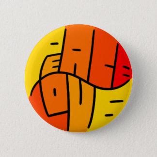 Badge Rond 5 Cm Paix et amour