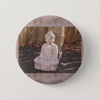 Badge Rond 5 Cm Paix spirituelle bouddhiste d'idole de statue de