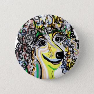 Badge Rond 5 Cm Palette de couleurs en pastel molle de caniche