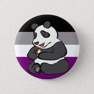 Badge Rond 5 Cm Panda asexuel mangeant le gâteau
