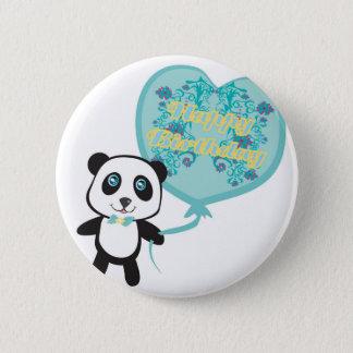 Badge Rond 5 Cm Panda mignon avec l'insigne de ballon