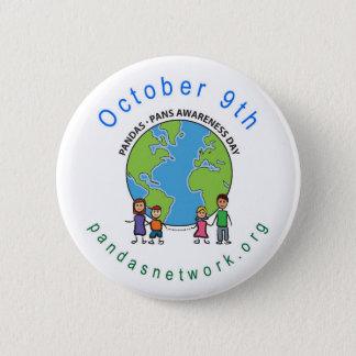 Badge Rond 5 Cm PANDAS/PANS Pin de jour de conscience du 9 octobre