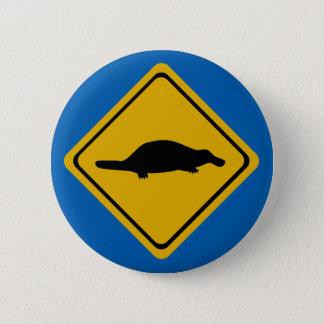 Badge Rond 5 Cm panneau routier d'ornithorynque