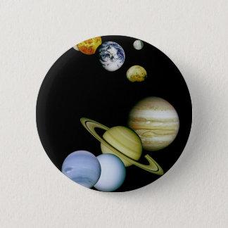 Badge Rond 5 Cm Panorama de planète