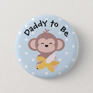 Badge Rond 5 Cm Papa à être singe mignon de Kawaii de bouton avec