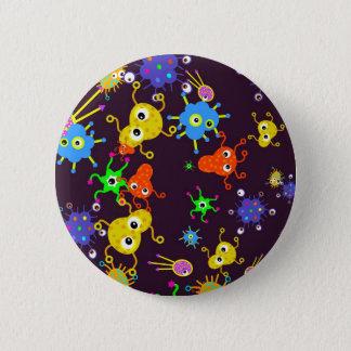 Badge Rond 5 Cm Papier peint de bactéries