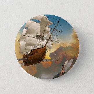 Badge Rond 5 Cm Par les nuages