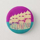 Badge Rond 5 Cm Paradis de Barcelone Gaudi