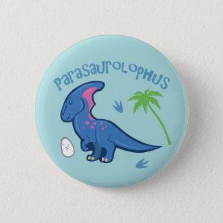 Badge Rond 5 Cm Parasaurolophus mignon