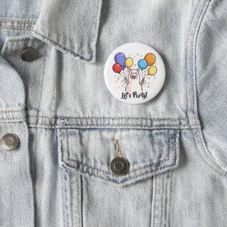 Badge Rond 5 Cm Party le lama