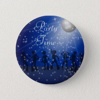 Badge Rond 5 Cm Party le style de disco, bouton rond de pouce de 2