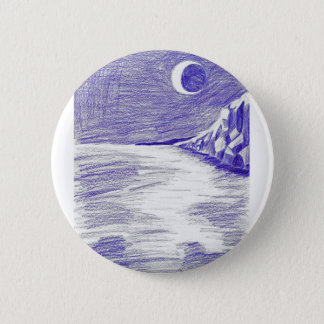 Badge Rond 5 Cm Paysage marin pourpre