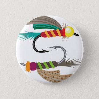Badge Rond 5 Cm Pêche de la mouche