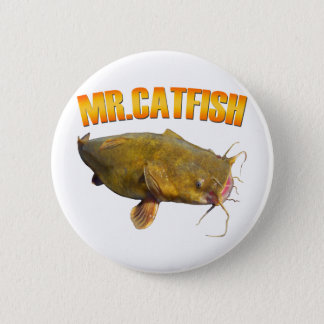 Badge Rond 5 Cm Pêche de M. Catfish