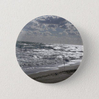 Badge Rond 5 Cm Pêche et rêves de plages