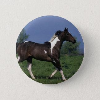 Badge Rond 5 Cm Peignez le cheval courant 2