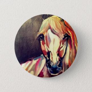 Badge Rond 5 Cm Peinture abstraite de cheval