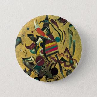 Badge Rond 5 Cm Peinture abstraite de toile de points de Kandinsky