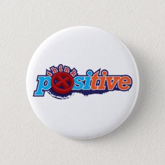 Badge Rond 5 Cm Pensez le porte - clé et le bouton positifs