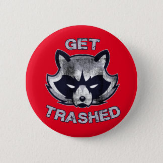 Badge Rond 5 Cm Personnes de partie de panda de déchets