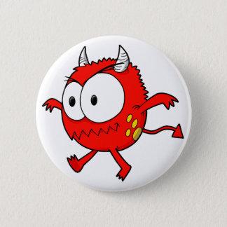 Badge Rond 5 Cm Petit bouton fou de monstre de diable