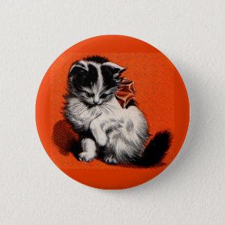 Badge Rond 5 Cm petit chaton doux