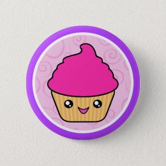 Badge Rond 5 Cm Petit gâteau de rose de gâteau de Kawaii Cuppy