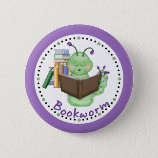 Badge Rond 5 Cm Petit rat de bibliothèque vert