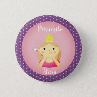 """Badge Rond 5 Cm """"Petite princesse"""" espagnole bouton avec la"""