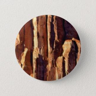 Badge Rond 5 Cm piliers d'or de grès