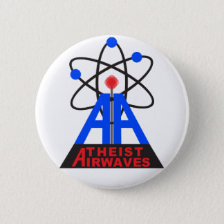 Badge Rond 5 Cm Pin athée d'ondes hertziennes
