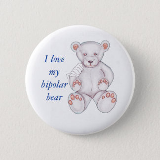 Badge Rond 5 Cm Pin bipolaire d'ours