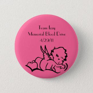 Badge Rond 5 Cm Pin commémoratif de collecte de sang d'Isabelle