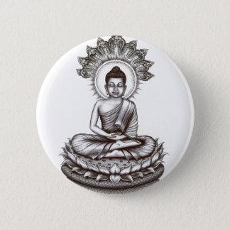 Badge Rond 5 Cm Pin de Bouddha par Vannak Anan Prum