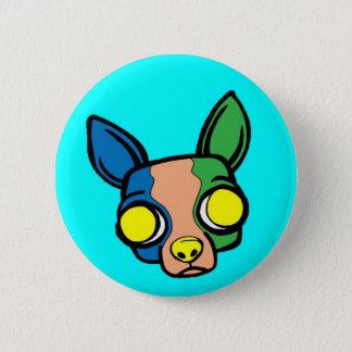 Badge Rond 5 Cm Pin de chiot de moine - turquoise