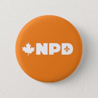 Badge Rond 5 Cm Pin du Québec NDP