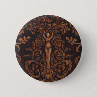 Badge Rond 5 Cm Pin rococo de bouton de déesse